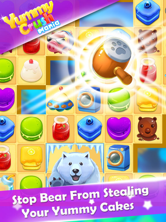Yummy Crush Mania - Quest of Candy Match 3 Games на iPad