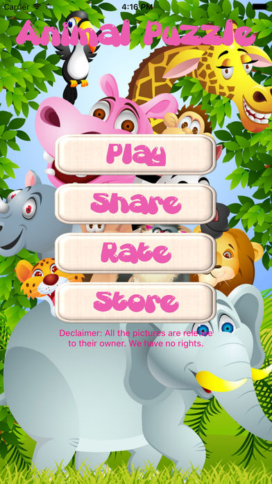 Animal Puzzle only Kids screenshot 1