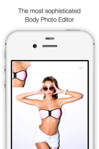Body Editor Photo App Selfie Pic Effects Curvetune screenshot 1