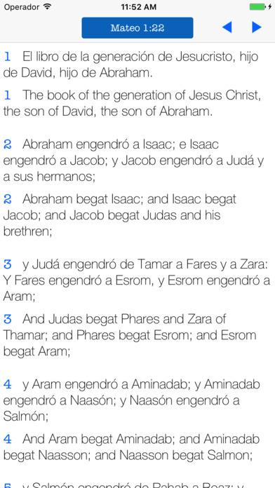 Biblia Bilingüe Inglés Español - KJV Reina Valera screenshot 1