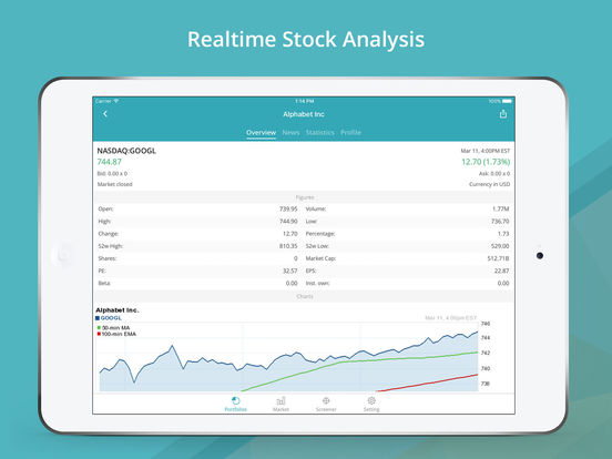 GoFinance for Google Finance: Tracker & Screener Screenshots