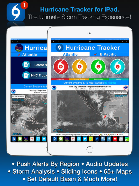 Screenshot #1 for Hurricane Tracker For iPad