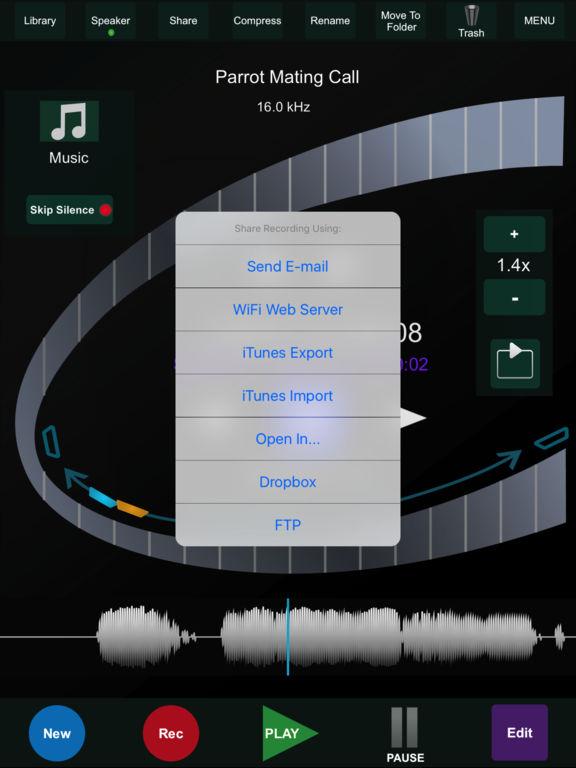 HT Recorder for iPad Screenshots