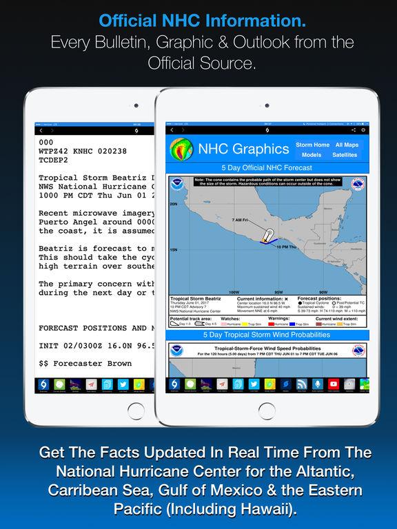 Screenshot #2 for Hurricane Tracker For iPad