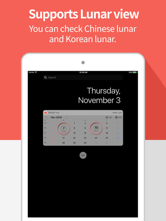 Widget Calendar : Easy & Simple Calendar Screenshots