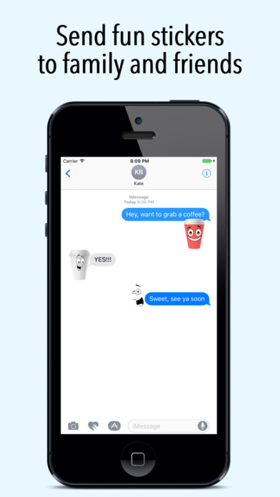 Coffmoji - Coffee emoji stickers screenshot 3