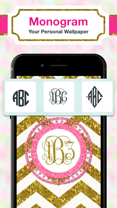 app shopper  monogram luxe wallpaper diy backgrounds