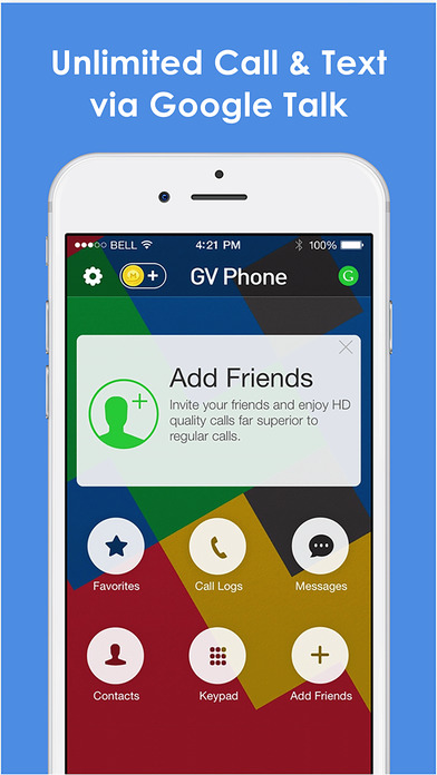 Google Voice Phone by Mo plus screenshot 1