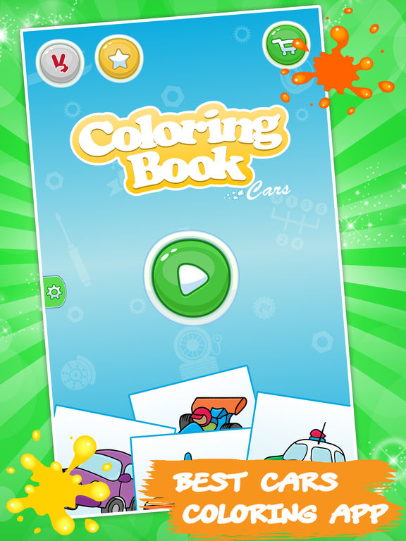 Best coloring book: Cars