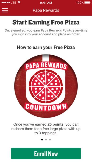 Papa John's Pizza screenshot