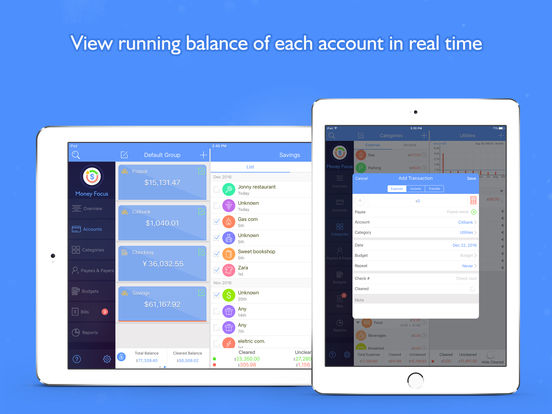 Money Focus Pro - Account, Budget and Bill Manager Screenshots