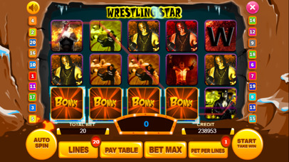 Screenshot 3 Wrestling слот Машина : Выиграть виртуальный Игра