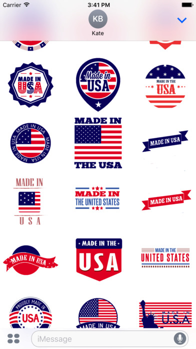 made in usa stickers pack app report on mobile action. Black Bedroom Furniture Sets. Home Design Ideas