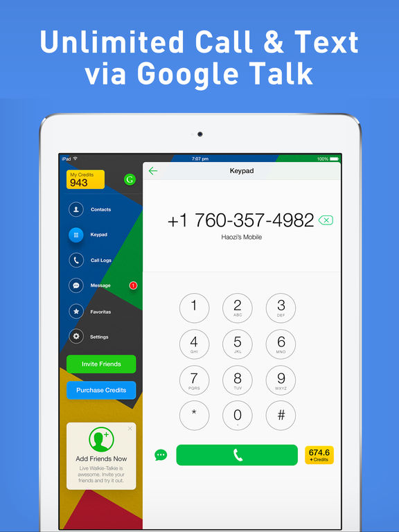 Google Voice Phone by Mo plus screenshot 6