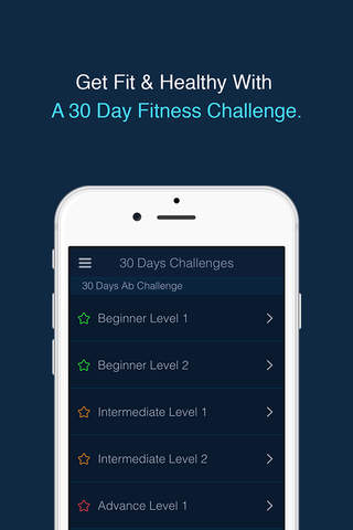 30 Day Fitness Challenge Log screenshot 2