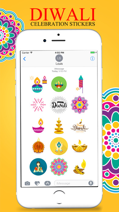 Diwali Stickers Pack For iMessage screenshot 2