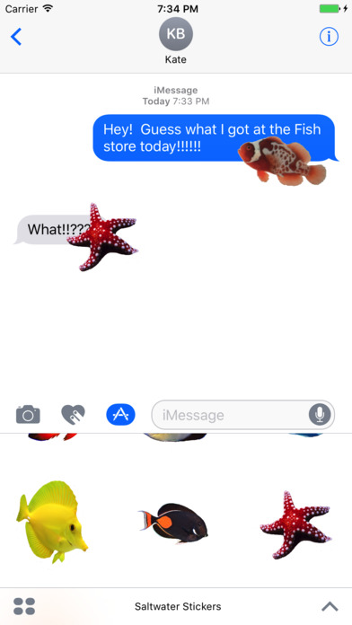 Saltwater fish stickers plus app report on mobile action for Saltwater fishing apps