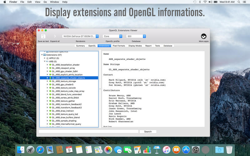 OpenGL Extensions Viewer for Mac