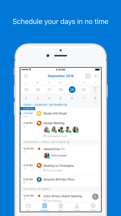 Screenshot for Microsoft Outlook - email and calendar in United States App Store