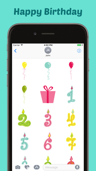 Happy Birthday Stickers Pack for iMessage screenshot 4