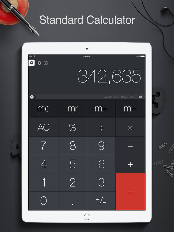 Screenshot #1 for Calculator Pro for iPad - Scientific Calculator