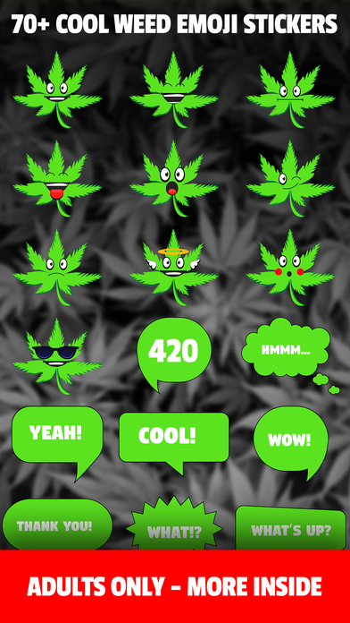 HighEmoji - WEED Stoner Emoji Stickers App screenshot 1