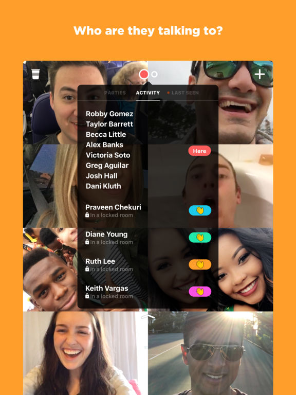 houseparty group video chat on the app store. Black Bedroom Furniture Sets. Home Design Ideas