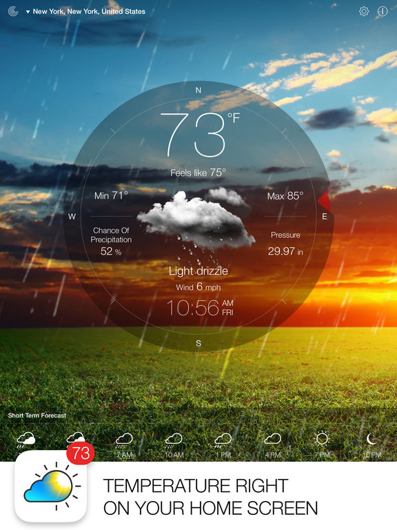 Screenshot #1 for Weather Live - Weather Forecast & Alerts