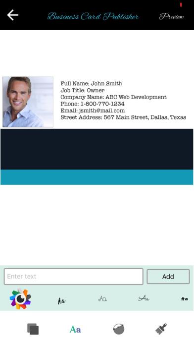 business card publisher app download