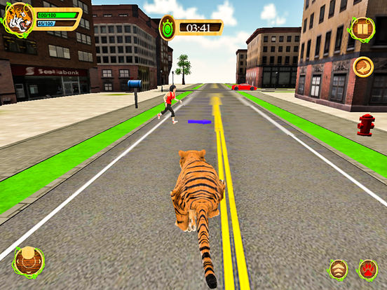 Wild Tiger Beast City Attack screenshot 8