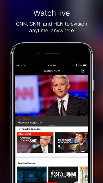 Screenshots of CNN for iPhone