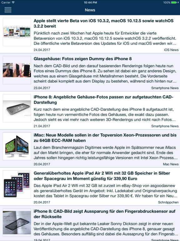 AppTicker News Screenshots