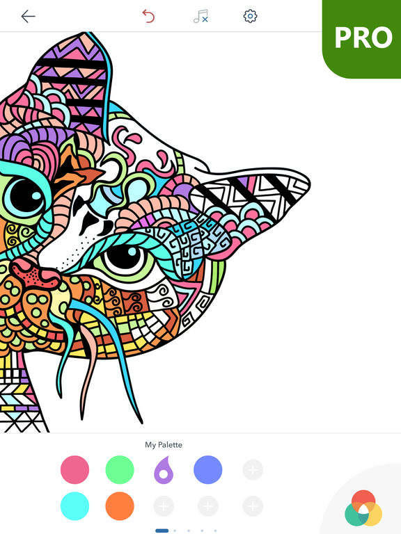 Coloring Pages Ipad Pro : Cat coloring pages for adults pro by peaksel doo