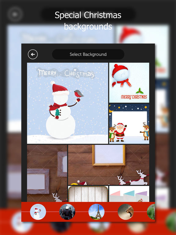 Christmas photo lab: swap face with Santa Claus Screenshots