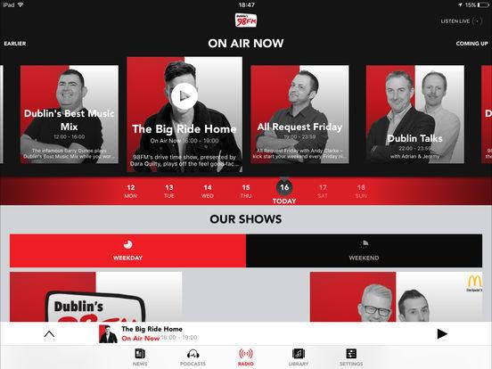98FM iPad Screenshot 1