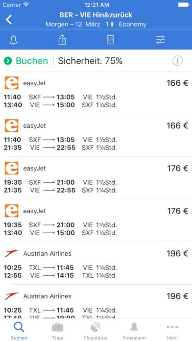 Flugsuche - für Urlaub und Geschäftsreisen iPhone Screenshot 1