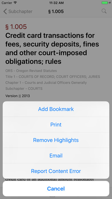 Oregon Laws (62 Titles of OR Law) iPhone Screenshot 3