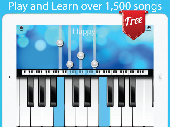 Screenshots of Piano Free with Songs for iPad