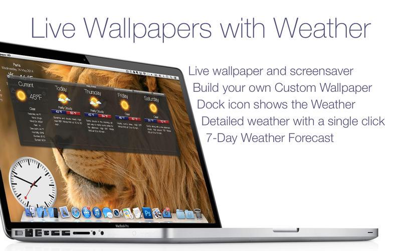 Screenshot #1 for Live Wallpaper HD+: desktop weather & screensaver