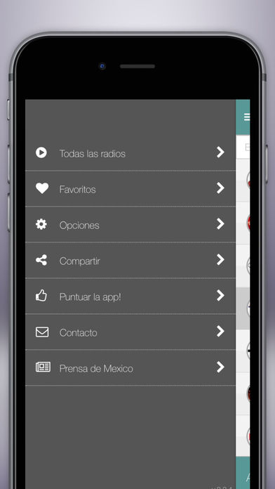 Radio Mexico FM Gratis - La mejor radio mexicana iPhone Screenshot 3