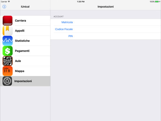 iUnical iPad Screenshot 1