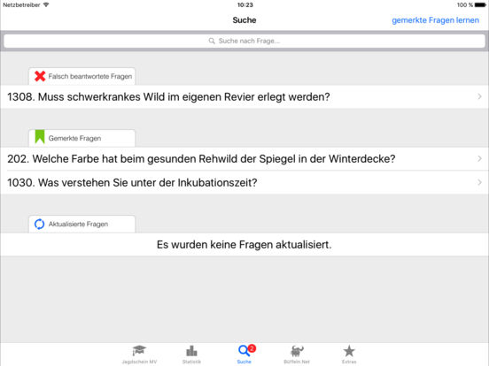 Jagdschein Mecklenburg-Vorpommern iPad Screenshot 3