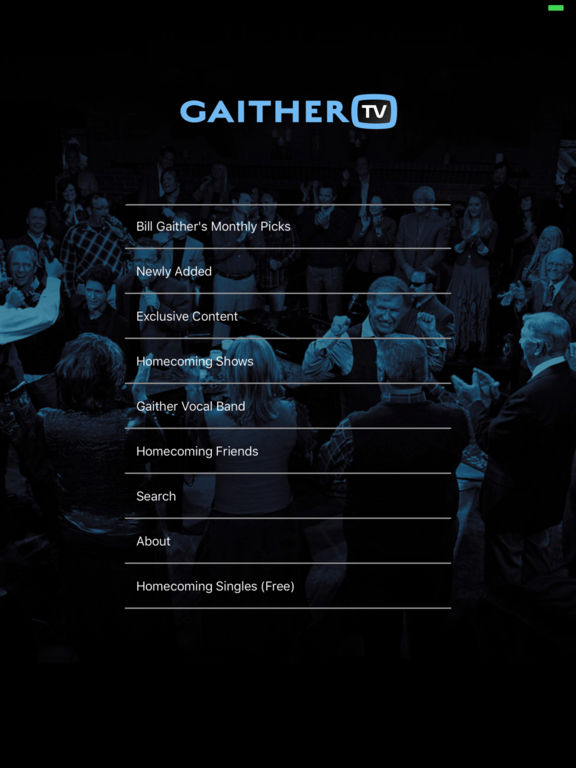 Screenshot #1 for GaitherTV