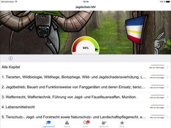 Jagdschein Mecklenburg-Vorpommern iPad Screenshot 1