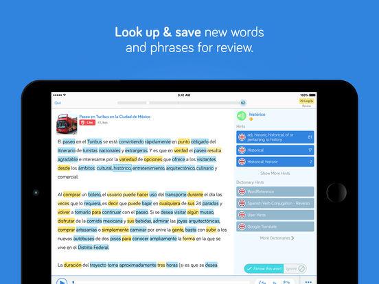 iLingQ Language Learning & Flashcards iPad Screenshot 3
