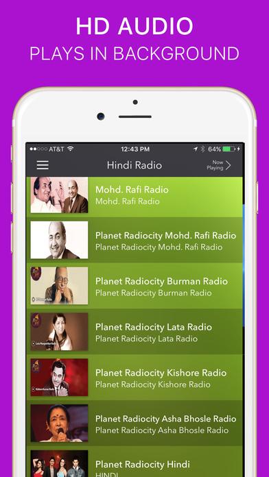Hindi Radio iPhone Screenshot 5
