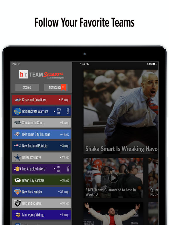 Team Stream for iPad on the App Store