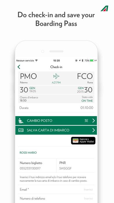 Alitalia iPhone Screenshot 1