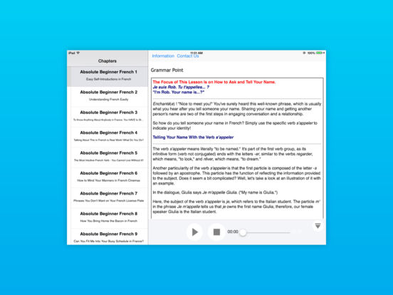 Spanish Lower Beginner for iPad iPad Screenshot 4