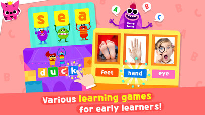 Pinkfong Word Power Apps free for iPhone/iPad screenshot